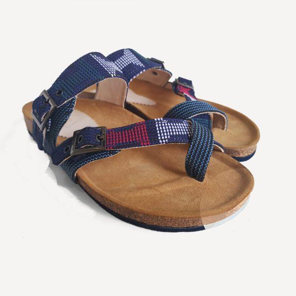 Ire slippers - Etu Aso Oke